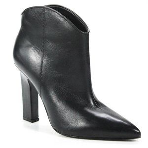New MARC FISHER Miggi Black Leather Ankle Boot 9.5
